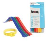 VELCRO Brand VEL60250 - ONE-WRAP Reusable Ties (5) 12mm x 20cm Multi-Colour
