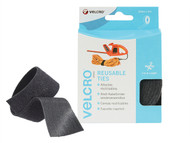 VELCRO Brand VEL60254 - ONE-WRAP Reusable Ties 30mm x 5m Black