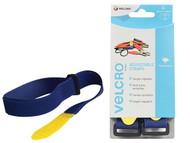 VELCRO Brand VEL60328 - VELCRO Brand Adjustable Straps (2) 25mm x 46cm Blue