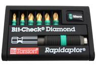 Wera WER056371 - Bit-Check BiTorsion Diamond Coated Pozi Set of 7