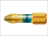Wera WER056402 - 851/1 BDC BiTorsion Phillips PH2 Insert Bit Diamond Coated 25mm Pack 10
