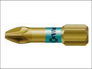 Wera WER056710 - 855/1 BTH BiTorsion Pozidriv PZ1 Insert Bit Extra Hard 25mm Pack 10