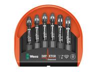 Wera WER057692 - Bit-Check 6 Impaktor 1 Pozi 6 Piece Set
