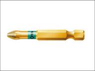 Wera WER059902004 - 855/4 BDC BiTorsion Pozidriv PZ2 Bit Diamond Coated Tip 50mm Pack 5