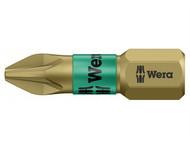 Wera WER073365 - 855/1 BTH BiTorsion Pozidriv PZ1 Insert Bit Extra Hard 25mm Card of 2
