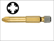 Witte WIT27541 - Pozidriv 1pt Titanium Coated Screwdriver Bit 50mm