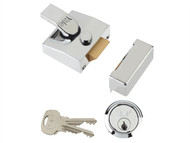 Yale Locks YAL85CHCH - 85 Deadlocking Nightlatch 40mm Backset Chrome Finish Box