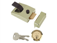 Yale Locks YAL89BLX - 89 Deadlock Nightlatch 60mm Backset Brasslux Finish Box