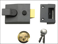 Yale Locks YAL91DMGPB - 91 Basic Nightlatch 60mm Backset DMG Finish Box