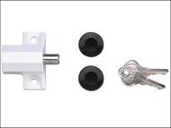 Yale Locks YALP114CH - P114 Patio Door Lock Polished Chrome Finish Visi