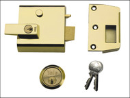 Yale Locks YALP1B - P1 Double Security Nightlatch 60mm Backset Brasslux Finish Visi