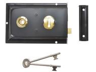 Yale Locks YALP334BK - P334 Rim Lock Black Finish 156 x 104mm Visi