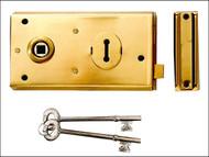 Yale Locks YALP401BK - P401 Rim Lock Black Finish 138 x 76mm Visi