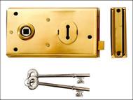 Yale Locks YALP401PB - P401 Rim Lock Polished Brass Finish 138 x 76mm Visi