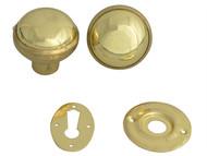 Yale Locks YALP405PB - P405 Rim Knob Polished Brass Finish