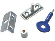Yale Locks YALP6P112SC - P121 Window Screw Locks Satin Chrome Pack of 6 P6P112