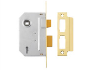 Yale Locks YALPM246PB25 - PM246 Internal 2 Lever Mortice Sashlock Polished Brass 67mm 2.5in