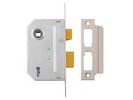 Yale Locks YALPM320CH25 - PM320 3 Lever Mortice Sashlock Polished Chrome 65mm 2.5in