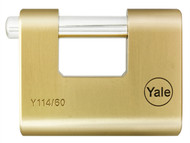Yale Locks YALY11460 - Y114 60mm Brass Shutter Padlock