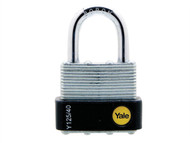 Yale Locks YALY12540 - Y125 40mm Laminated Steel Padlock