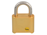 Yale Locks YALY12650 - Y126 50mm Brass Combination Padlock