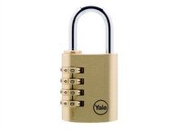 Yale Locks YALY15040 - Y150 40mm Brass Combination Padlock