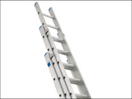 Zarges ZAR49858 - Industrial Extension Ladder 3-Part D Rungs 3 x 8