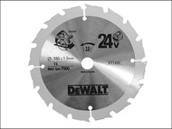 DEWALT DEWDT1203QZ - Trim Saw Blade 165 x 10mm x 16T Fast Rip