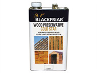 Blackfriar BKFNGSWPDB5L - EXT Wood Preserver Gold Star Dark Brown 5 Litre