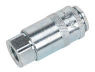 """Sealey ACP13 Coupling Body Female 1/4""""BSP Pack of 5"""