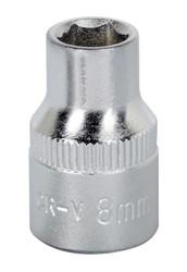 "Sealey S3808 WallDrive¨ Socket 8mm 3/8""Sq Drive"