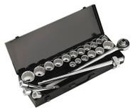 """Sealey AK259/CRV Socket Set 22pc 3/4""""Sq Drive 12pt WallDrive¨ - DuoMetric¨"""