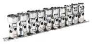 """Sealey AK2710 Universal Joint Socket Set 3/8""""Sq Drive 6pt WallDrive¨ 10pc Metric"""
