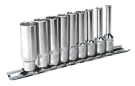 "Sealey AK2718 Socket Set 9pc 1/4""Sq Drive 6pt Deep WallDrive¨ Imperial"