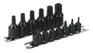 "Sealey AK5585 Impact TRX-Star Security Socket Bit Set 13pc 1/4"" & 3/8""Sq Drive"