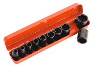 """Sealey AK56/11M Impact Socket Set 10pc 1/2""""Sq Drive Metric"""