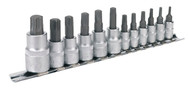 "Sealey AK6213 TRX-Star Socket Bit Set 12pc 1/4"", 3/8"" & 1/2""Sq Drive"