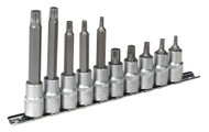 "Sealey AK6215 Spline Socket Bit Set 10pc 1/2""Sq Drive"