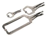 Sealey AK66 Locking 'C' Clamp Set 3pc