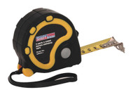 Sealey AK990 Rubber Measuring Tape 7.5mtr(25ft) x 25mm Metric/Imperial