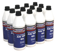 Sealey ATO/1000 Air Tool Oil 1ltr Pack of 12