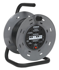Sealey BCR25 Cable Reel 25mtr 4 x 230V 1.25mm_ Thermal Trip