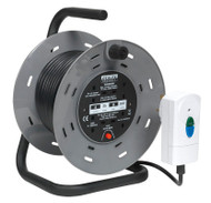 Sealey BCR25RCD Cable Reel 25mtr 4 x 230V 1.25mm_ Thermal Trip with RCD Plug