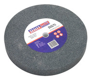 Sealey BG200/15 Grinding Stone ¯200 x 25mm 16mm Bore A60P Fine