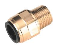 """Sealey CAS15BSA Straight Adaptor 15mm x 1/2""""BSPT Brass"""