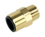 """Sealey CAS22BSA Straight Adaptor 22mm x 3/4""""BSPT Brass"""