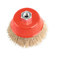 Sealey CBC100 Brassed Steel Cup Brush ¯100mm M14 x 2mm