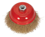 Sealey CBC125 Brassed Steel Cup Brush ¯125mm M14 x 2mm