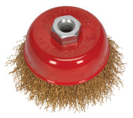 Sealey CBC75 Brassed Steel Cup Brush ¯75mm M10 x 1.5mm