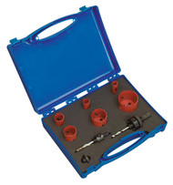 Sealey HKE9 Hole-Saw Kit Electrician's 9pc